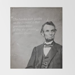 Abraham Lincoln Quote Throw Blanket