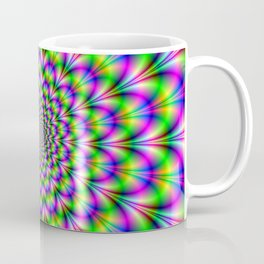 Neon Rosette in Pink Green and Blue Coffee Mug