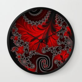 Eruption - Fractal Art Wall Clock