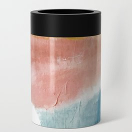 Exhale: a pretty, minimal, acrylic piece in pinks, blues, and gold Can Cooler