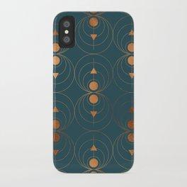 Copper Art Deco on Emerald iPhone Case