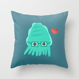 Cuddly the Cuddlefish - heart you Throw Pillow
