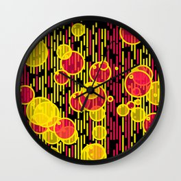 Bubbles and lines Wall Clock
