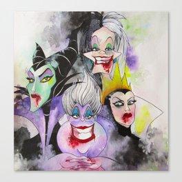Abstract Villains Canvas Print