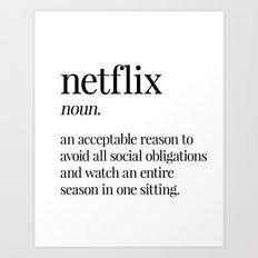 Netflix Art Print