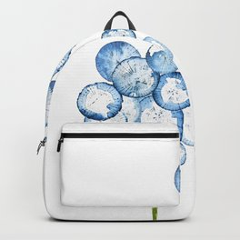 2 abstract indigo dandelions Backpack