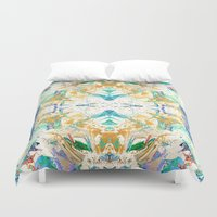 antique Duvet Covers featuring ANTIQUE by Happy as Flynn