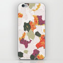 Abstract floral camouflage iPhone Skin