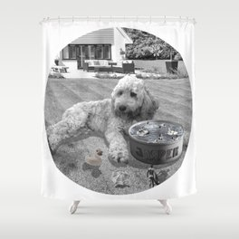 Jasper Throws a Pool Party! Shower Curtain