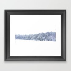 Peaceful Storm - Winter Snow Framed Art Print