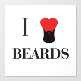 I heart Beards Canvas Print