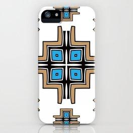 aztec cross mandala iPhone Case