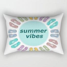 Summer vibes in flip flops Rectangular Pillow