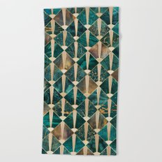 Art Deco Tiles - Ocean Beach Towel