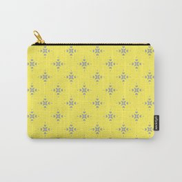 Ornamental Pattern with Lemon and Grey Yellow Colourway Carry-All Pouch