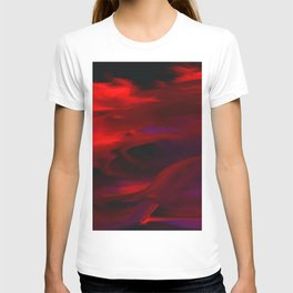 Abstract intense violet red T-shirt