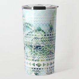 Tropical Tribal Print Travel Mug