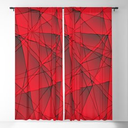 Geometric web of red lines with cross triangular highlights. Blackout Curtain