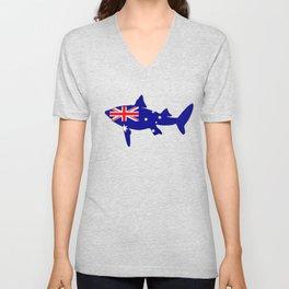 Australian Flag - Shark Unisex V-Neck