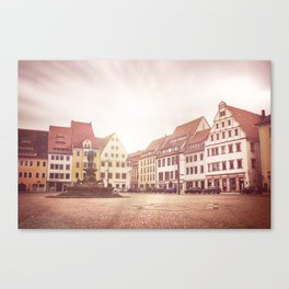 Freiberg, Germany Town Square Canvas Print