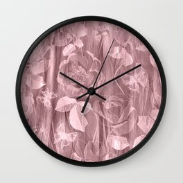 Silk with Roses and Butterflies 2 Wall Clock
