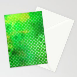 Texture in Green Flash with Polka Dots Stationery Cards