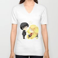 ouat V-neck T-shirts featuring OUAT - Buttercup Princess by Yorlenisama