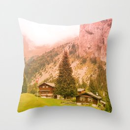 Mountain's Beauty And Nature's Magic Throw Pillow
