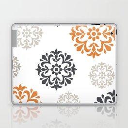 Flowers in Grey and Mustard Laptop & iPad Skin