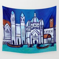 venice Wall Tapestries featuring Venice by Theresa Giolzetti