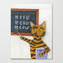 Smarty Cat Canvas Print