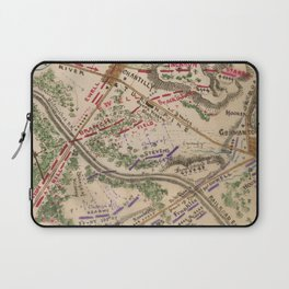 Vintage Map of The Battle of Chantilly (1865) Laptop Sleeve