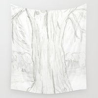 cancer Wall Tapestries featuring Cancer Tree by SaphronSunshine