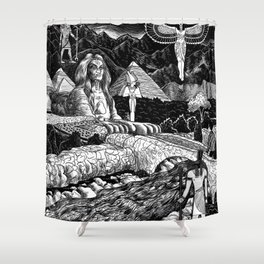 Dreaming Of Egypt Shower Curtain