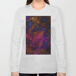 Day Dreaming - Abstract, metallic, textured, paint splatter style artwork Long Sleeve T-shirt