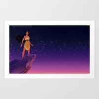 pocahontas Art Prints featuring Pocahontas ♥ by Vita♥G