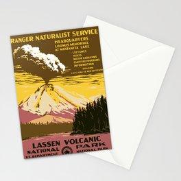 Vintage Lassen Volcanic National Park Stationery Cards