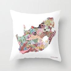 South africa map Throw Pillow