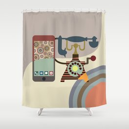 Telecom Chic Shower Curtain