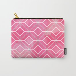 Geometric Crystals: Rose Petal Carry-All Pouch