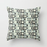 mod Throw Pillows featuring mod by kociara