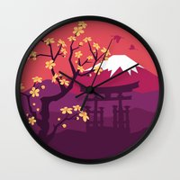 japan Wall Clocks featuring Japan by Marko Stupic