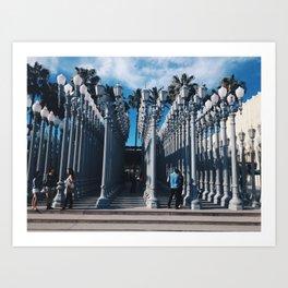 LACMA Lights Art Print