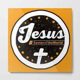 Jesus the Savior Emblem - Christian Design Metal Print