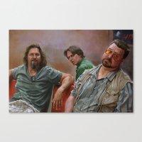 lebowski Canvas Prints featuring Big Lebowski by Pavel Sokov