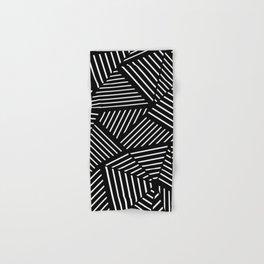 Ab Linear Zoom Black Hand & Bath Towel