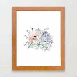 Pretty Succulents by Nature Magick Framed Art Print