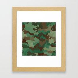 Forest camoflauge pattern Framed Art Print