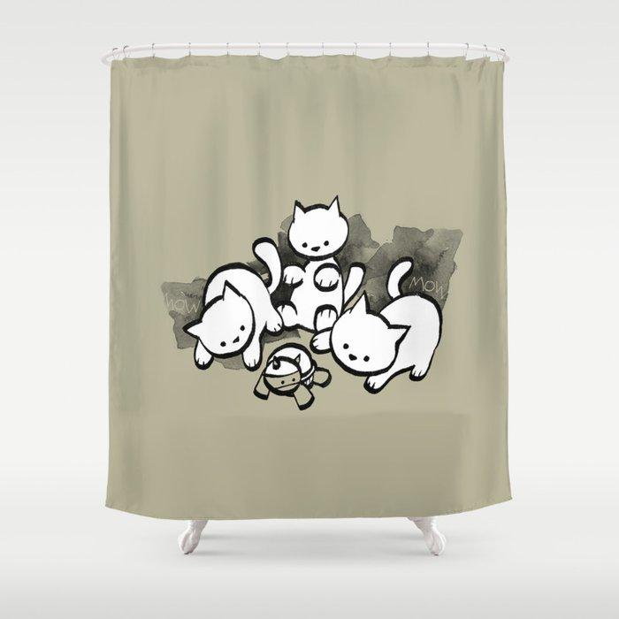 minima - mow Shower Curtain