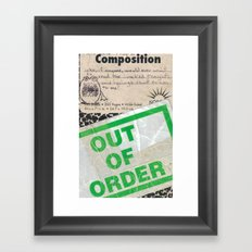 Out of Order Framed Art Print